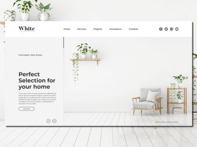 White Interior Design_Landing Page