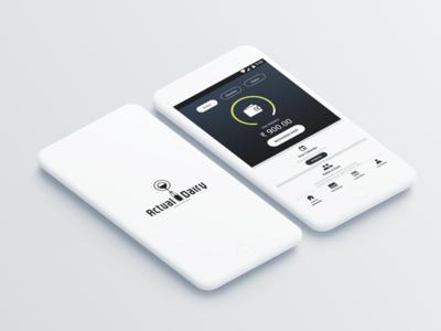 Actual Dairy_Mobile App Design