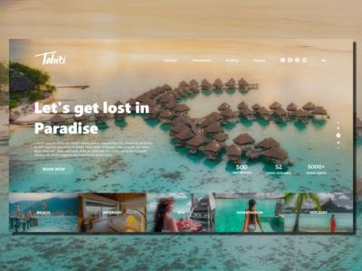 Tahiti Resort_Landing Page Concept