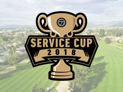 Service Cup badge sports golf illustration trophy logo