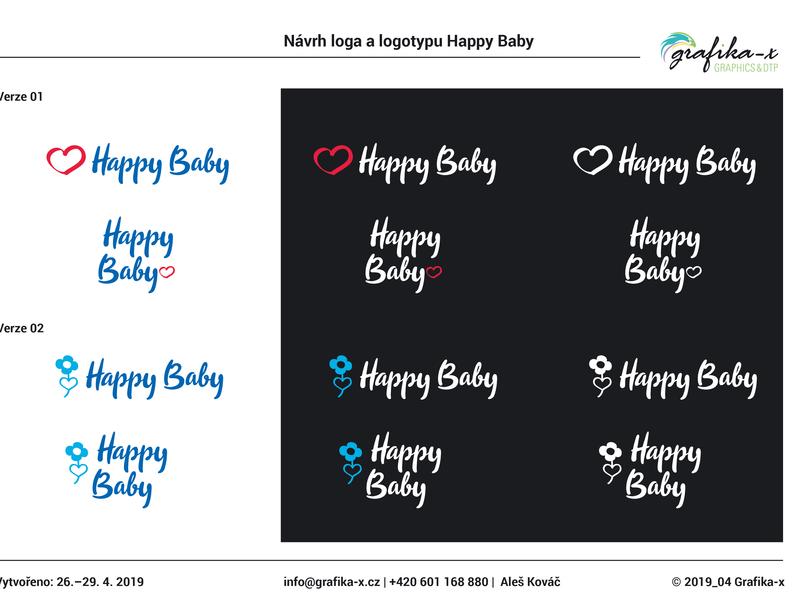 Logo design Happy Baby adobe illustrator