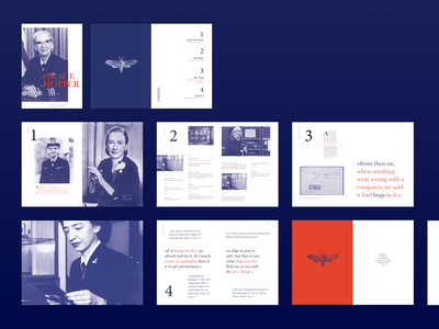 Grace Hopper - The story of an amazing woman editorial design