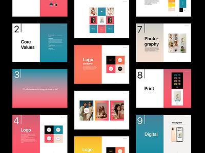 Brand Book - WORN STORIES brand book brand design