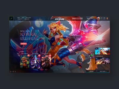 Paladins Menu Concept interface gaming illustration game paladins design concept ux ui design app application product design ui