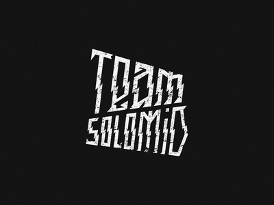 Team SoloMid tsm solomid team type logo typogaphy fashion lettering design branding