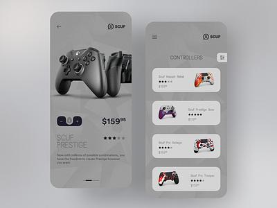 Scuf App Concept branding prestige esports gaming controller scuf interface ui ui design mobile ui ux product design app application concept design