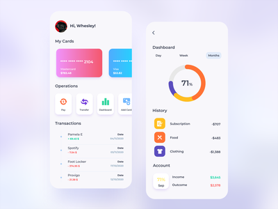 Personal Finance App minimal colors dashboard bank finance ui design ui mobile ui ux product design application app concept design