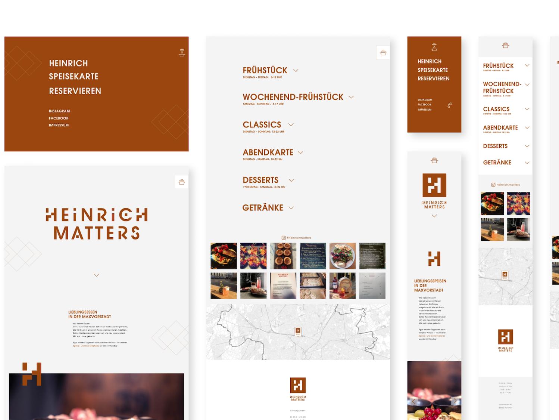 Heinrich Matters SANMIGUEL Branding branding responsive design website