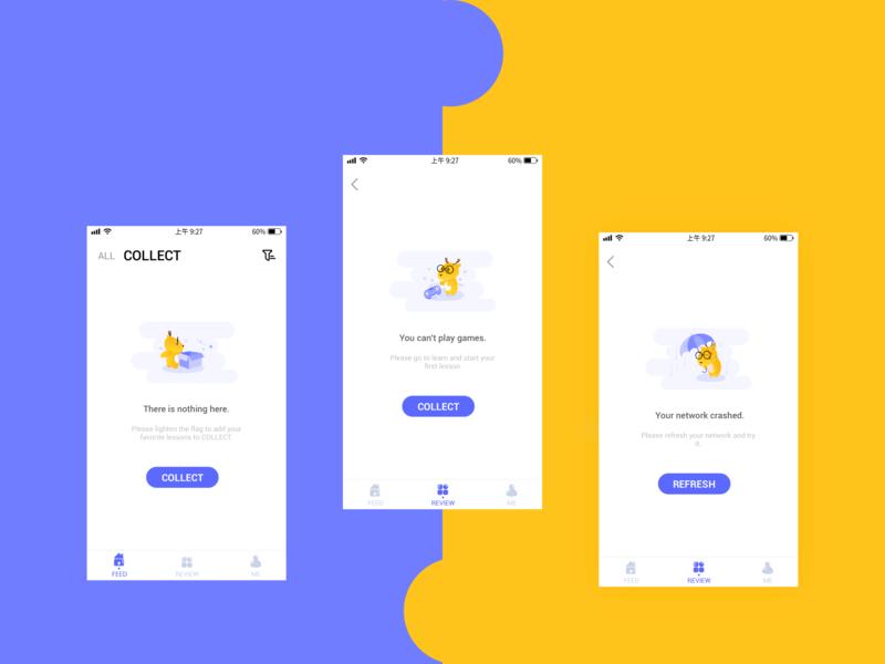 Empty state ux app design website design ui illustration
