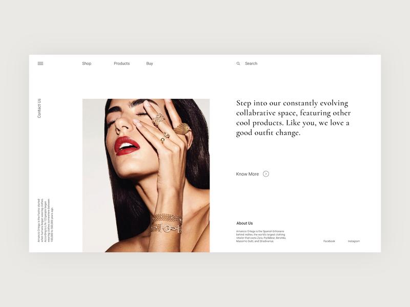Shot comment like follow ui  ux ui design gucci zara best design web ui shot minimalist minimal flat dribble design clean