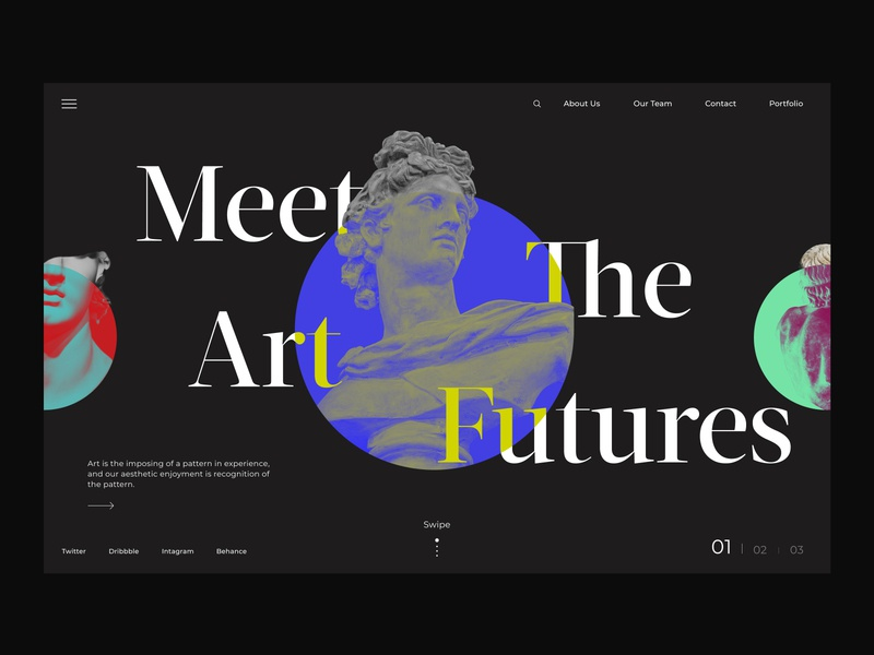 Portrait Auction site follow minimalistic color dribbble invite modern design modern exploration ui trend trending trendy web typography best design minimalist ui design dribble shot minimal design clean