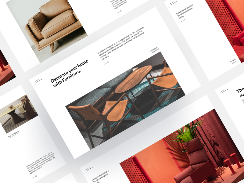 Decor Furniture modern trend ui  ux featured like follow trending trendy modern design typography ui design ui web dribble shot minimal design clean