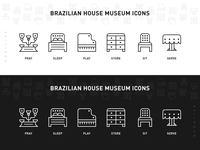 Brazilian House Museum Icons