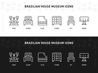 Brazilian House Museum Icons