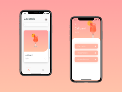 Cocktail recipes app