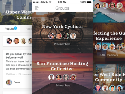 Airbnb for iOS 7 - Update airbnb ios7 mobile travel groups community hospitality hosts