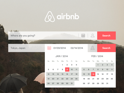 Airbnb Date Picker - Early Process airbnb rebrand redesign process dates date picker interaction