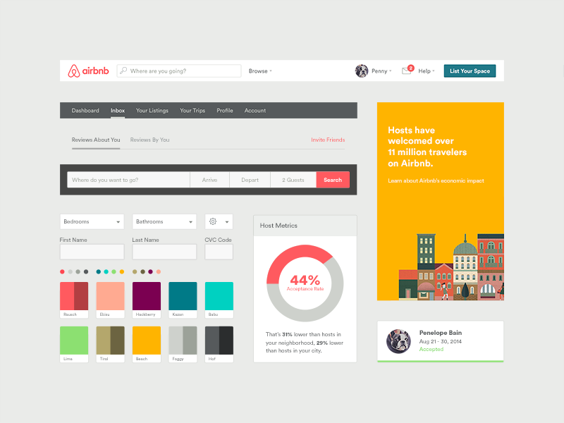 Airbnb ui toolkit web