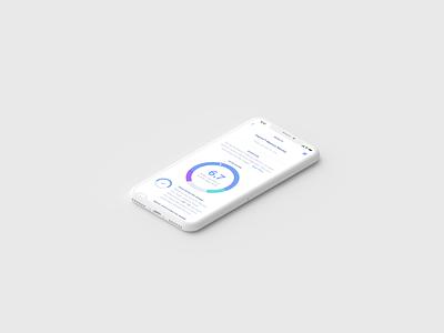 Neurotrack interaction design prototype ux data viz data chart score test results mobile clean white iphone ios ui animation ui memory disease health healthcare