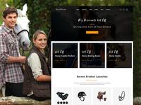 Stallion - eCommerce Horse Club PSD Template