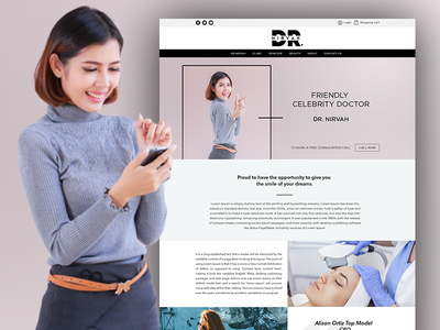 Dr. Nirvah - Friendly Celebrity Doctor Website Template psd templates psd template