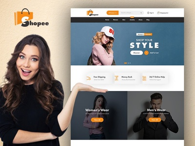 Shopee - eCommerce Web Template for Online Shopping Experience ecommerce template psd templates psd template