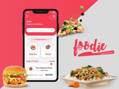 Foodie - Sushi Restaurant App UI Kits for Online Food Ordering ui kits