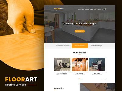 FloorArt - Flooring Services PSD Template psd templates business psd template
