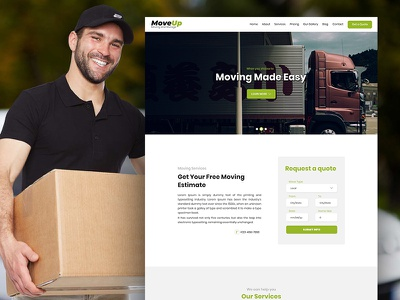 MoveUp - Moving and Storage Services PSD Template storage services moving services psd templates