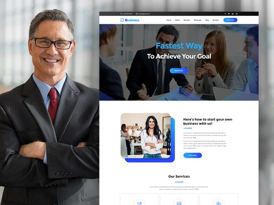Business - Consulting and Corporate PSD Template psd templates