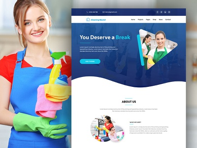 Cleaning Master - Cleaning Service Landing Page Template psd template psd templates