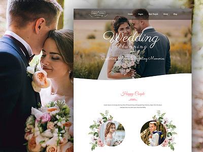 Wedding Planning - Landing Page PSD Template psd template psd templates