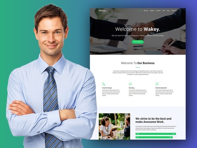 Wakey - Digital Agency One Page HTML Template