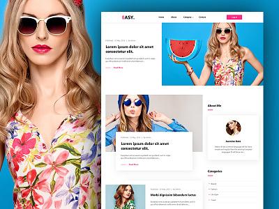 Easy - Lifestyle & Fashion Blog PSD psd template psd templates