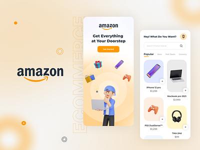 Amazon Redesign App Challenge uplabs challenge app resign challenge ios mockup app ecommerce amazon