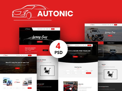 Autonic - Car Searching and Showcase Landing Page