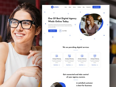 Burans - Digital Agency Landing Page