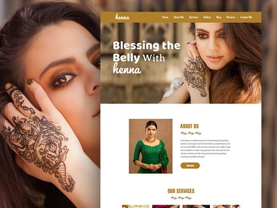 Henna - Landing page PSD Template