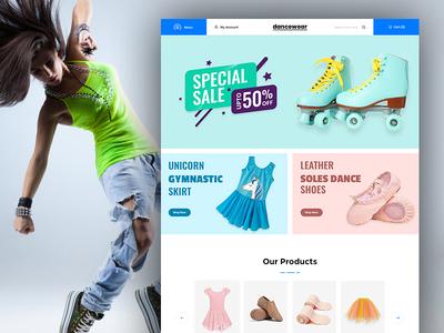 Dancewear eCommerce Store