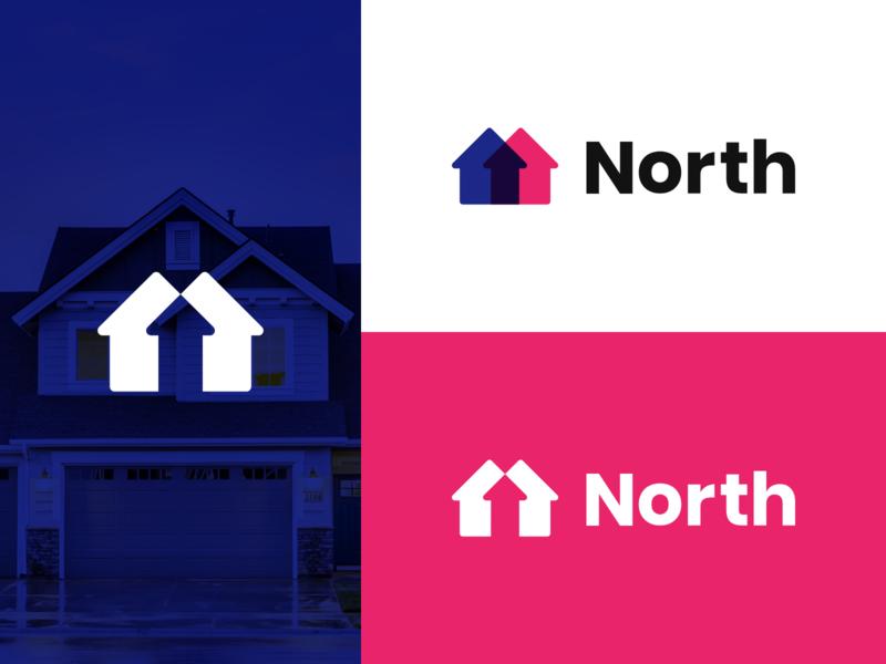 North Estate Agent Logo estate agent estate agency icon typography logotype logo design branding logo house logo house design concept