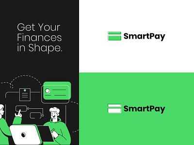 SmartPay Logo Concept pay finances finance minimal illustration icon typography vector branding logo idea design concept