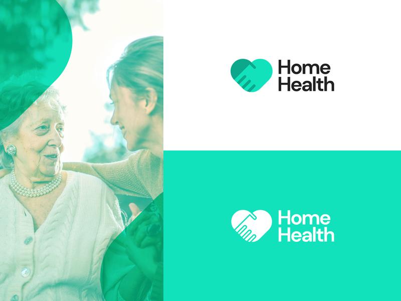Home Health Logo Concept healthcare care health concept typography branding logo idea design