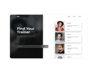 Find Your Trainer Desktop Concept