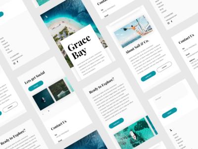 Sail & Co. Website Mobile