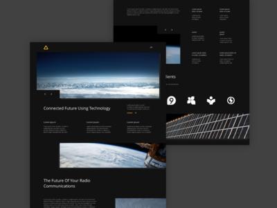 Communications Website Concept