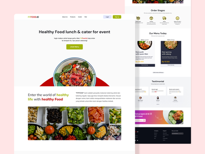 Healthy food catering landing page food catering healthy food healthy uiux ux design ui design landing page web exploration figma design ux ui