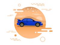 A Subaru in the desert