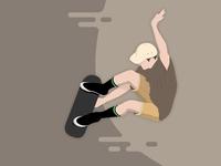 Skater Grab grab skater skateboarding skateboard skate sk8 vector illustration