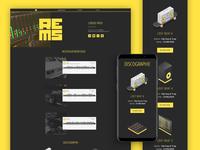 I update my Beatmaker Website :) ghettoblaster isometric music production yellow trap hiphop beatmaking beatmaker beat website ui design ui