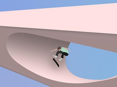 KickFlip Sculpture street skater kickflip flip skateboarding skateboard skate sk8 vector illustration